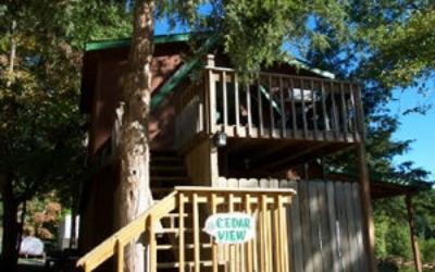 outside of Cedar View Cabin